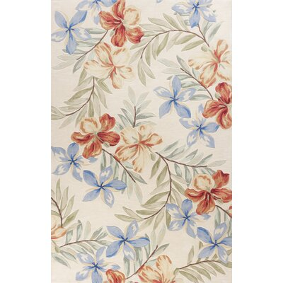 Cheyenne Hand-Tufted Ivory Floral Area Rug Rug Size: Rectangle 5 x 76
