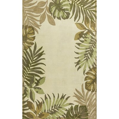 Imala Hand-Tufted Ivory Wool Area Rug Rug Size: Rectangle 5 x 8
