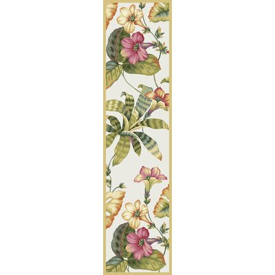 Murray Sand Floral Area Rug Rug Size: Runner 26 x 10