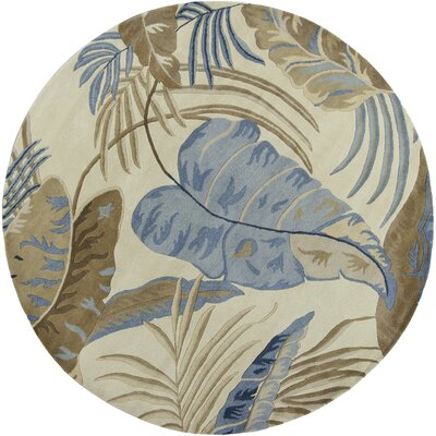 Delview Rainforest Plants Area Rug Rug Size: Round 76