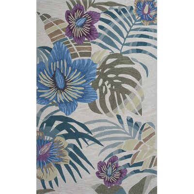 Roselawn Sand Palm Area Rug Rug Size: Rectangle 8 x 106