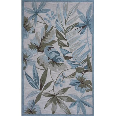 Roselawn Ivory Tropica Area Rug Rug Size: Rectangle 5 x 76