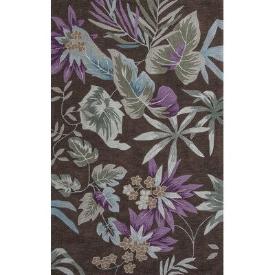 Roselawn Mocha Foliage Area Rug Rug Size: Rectangle 8 x 106