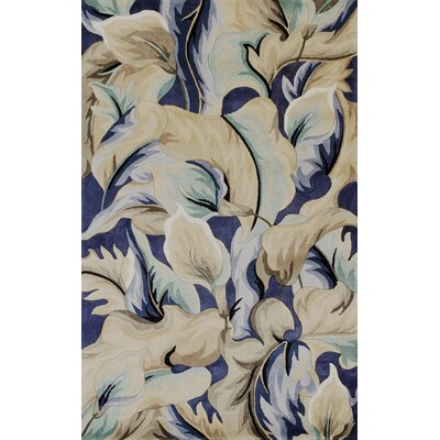 Rowan Blue Calla Lillies Area Rug Rug Size: Rectangle 79 x 106
