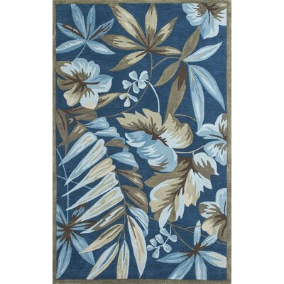 Roselawn Ocean Tropica Indoor Area Rug Rug Size: Rectangle 33 x 53