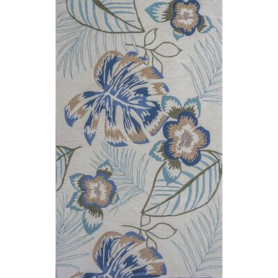 Roselawn Ivory Maui Area Rug Rug Size: Rectangle 5 x 76