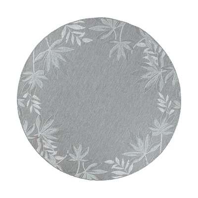 Maguire Sage Fern Border Indoor/Outdoor Area Rug Rug Size: Round 69