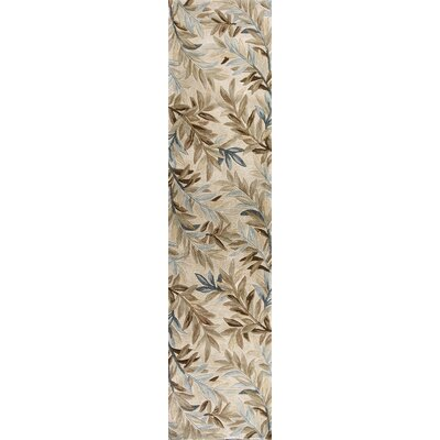 Murray Ivory Tropical Branches Area Rug Rug Size: Runner 26 x 10