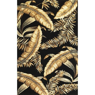 Murray Black Ferns Area Rug Rug Size: 86 x 116