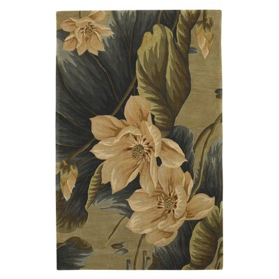 Murray Floral Vision Sage Area Rug Rug Size: Rectangle 53 x 83