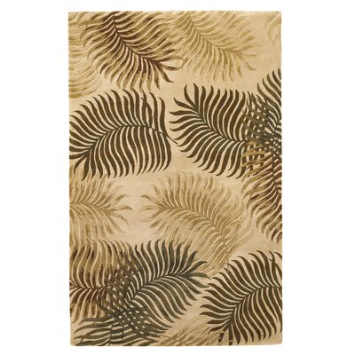 Delview Fern View Natural Plants Area Rug Rug Size: 5 x 8