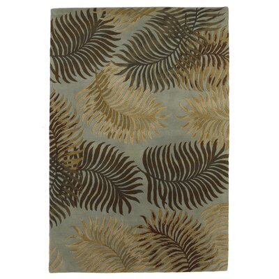 Delview Fern View Aqua Plants Area Rug Rug Size: Rectangle 33 x 53