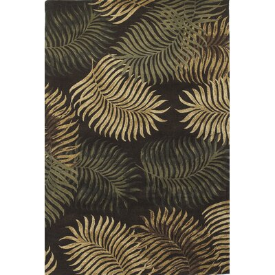 Havana Fern View Espresso Plants Area Rug Rug Size: Rectangle 33 x 53