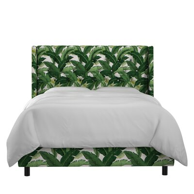 Promfret Swaying Palm Aloe Nail Button Tufted Upholstered Panel Bed Size: Full