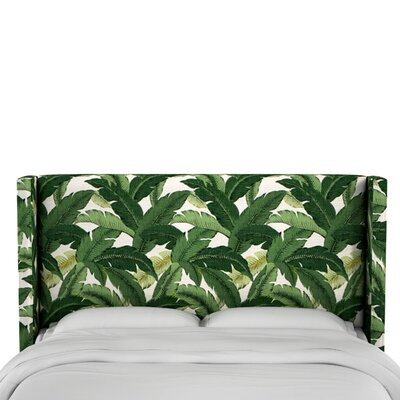 Garrett Upholstered Wingback Headboard Size: King