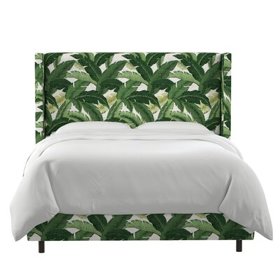 Greendale Swaying Palm Aloe Upholstered Panel Bed Size: King