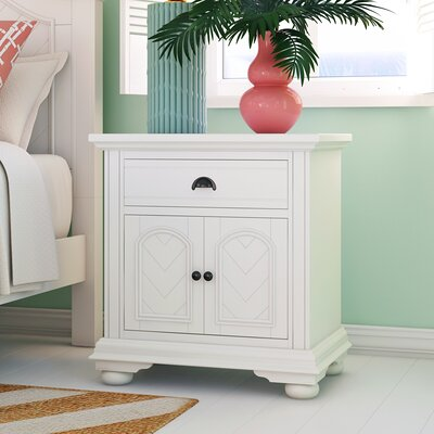 Alpinia 1 Drawer Nightstand Finish: White