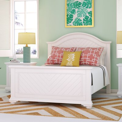 Tarquin Panel Bed Size: Queen, Color: White