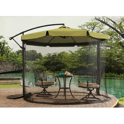 10 Anthea Cantilever Umbrella Fabric Finish: Green