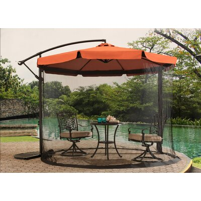 10 Anthea Cantilever Umbrella Fabric Finish: Rust