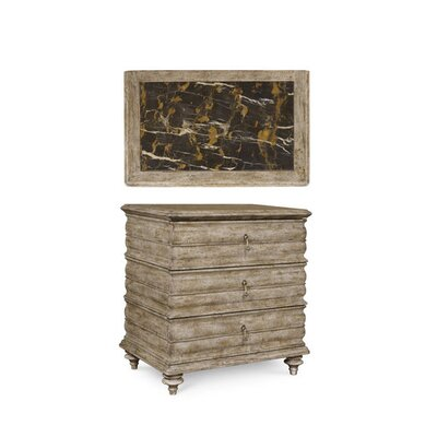 Gerakies 3 Drawer Nightstand Finish: Gypsum
