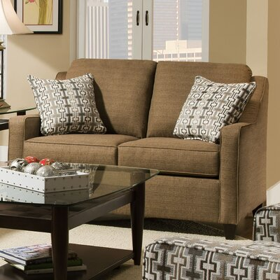 Simmons Upholstery Destin Solid Hide-A-Bed Sleeper Sofa Color: Caf�