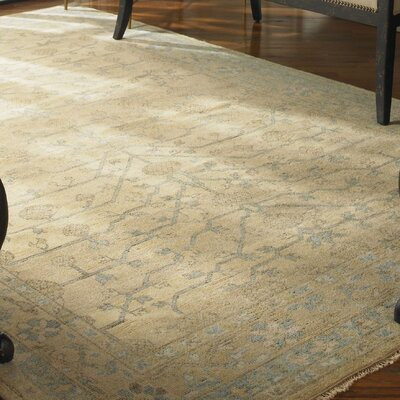 Berwyck Hand-Knotted Pale Gold/Blue Area Rug