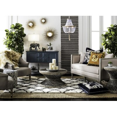 Alburg Coffee Table Color: Gray White Wash