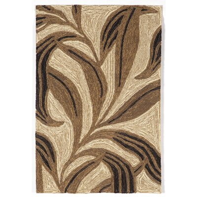 Demirhan Neutral Leaf Outdoor Rug Rug Size: 36 x 56