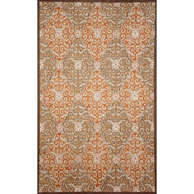 Demirhan Coral Lakai Diamond Outdoor Rug Rug Size: Rectangle 5 x 76