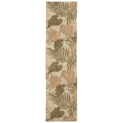 Demirhan Tropical Leaf Outdoor Rug Rug Size: Runner 2 x 8