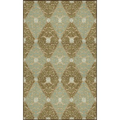 Demirhan Lakai Diamond Aqua Indoor/Outdoor Rug Rug Size: 83 x 116