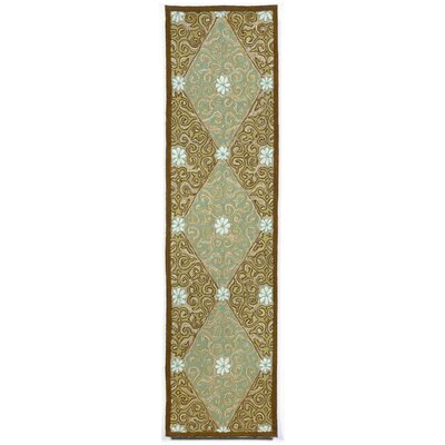 Demirhan Lakai Diamond Aqua Indoor/Outdoor Rug Rug Size: Runner 2 x 8
