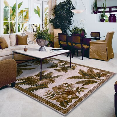 Murray Ivory Tropical Oasis Area Rug Rug Size: Rectangle 86 x 116