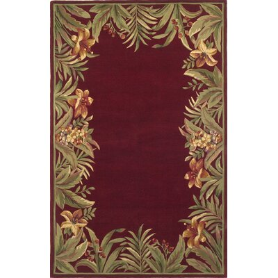 Murray Red Rainforest Area Rug Rug Size: 86 x 116
