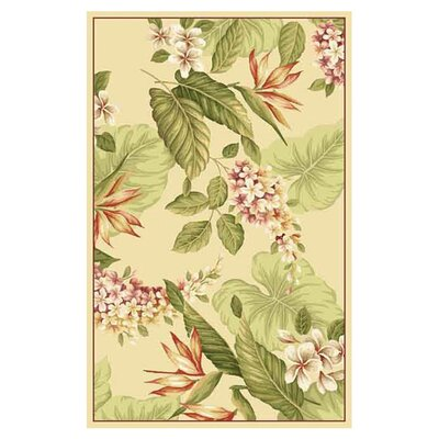 Murray Ivory Flora Area Rug Rug Size: Rectangle 53 x 83
