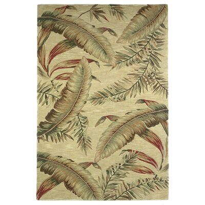 Murray Ivory Ferns Area Rug Rug Size: 53 x 83