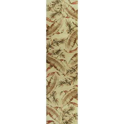 Murray Ivory Ferns Area Rug Rug Size: Runner 26 x 10