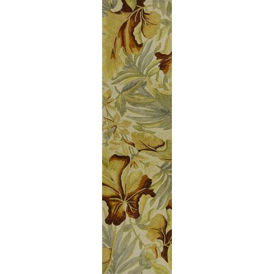 Murray Ivory Paradise Area Rug Rug Size: Runner 26 x 10