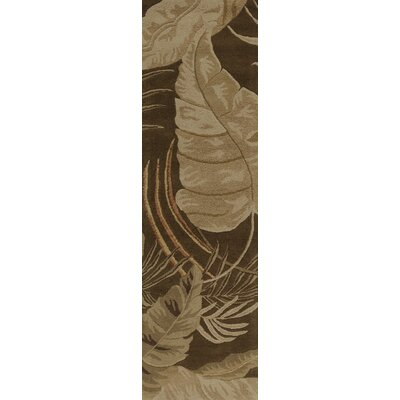 Antigua Mocha Rainforest Floral Area Rug Rug Size: Runner 23 x 8