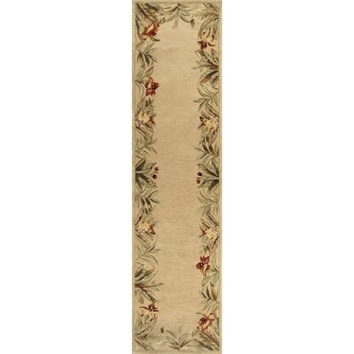 Murray Beige Rainforest Floral Area Rug Rug Size: Round 56