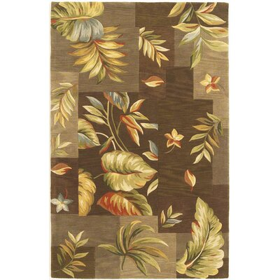 Murray Mocha Foliage Views Rug Rug Size: Rectangle 86 x 116