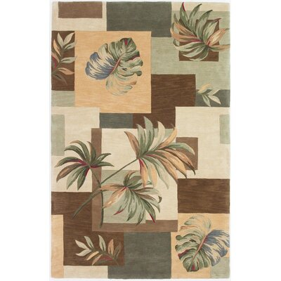 Murray Earthtone Foliage Views Area Rug Rug Size: 53 x 83