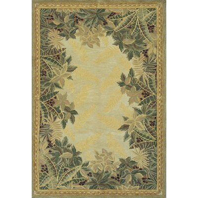 Murray  Beige Tropical Area Rug Rug Size: 86 x 116