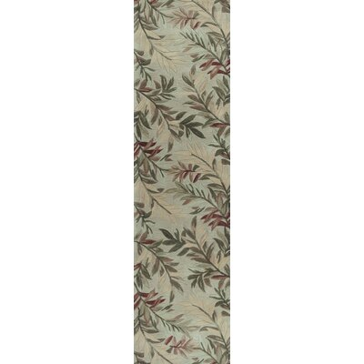 Murray Sage Tropical Branches Area Rug Rug Size: 53 x 83