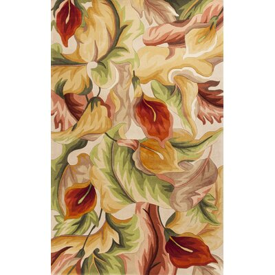 Rowan Ivory Calla Lillies Rug Rug Size: Rectangle 5 x 8