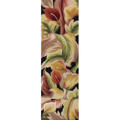 Rowan Black Calla Lillies Area Rug Rug Size: Runner 26 x 8