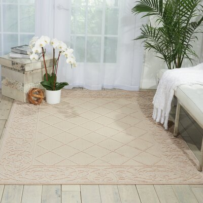 Seaside Cream Indoor/Outdoor Area Rug Rug Size: 710 x 106
