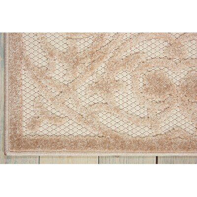 Seaside Cream Indoor/Outdoor Area Rug Rug Size: Rectangle 53 x 75