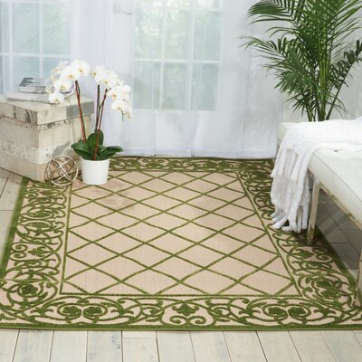 Seaside Green/Beige Indoor/Outdoor Area Rug Rug Size: 710 x 106